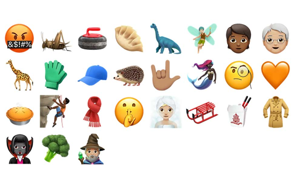 Apple iOS 11 new Emojis